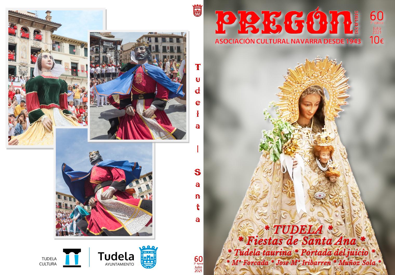Pregón Nº 60 Tudela y las fiestas de Santa Ana